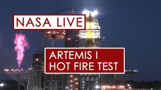 Hot Fire Engine Test for the Artemis Moon Rocket