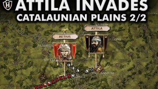 Attila invades the Western Roman Empire ⚔️ Battle of the Catalaunian Plains, 451 AD – Part 2/2