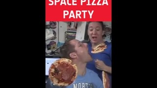 Space pizza party with Thomas Pesquet 🍕 #shorts