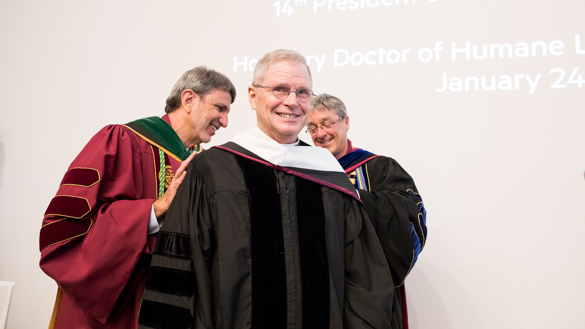 Highlights YouTube poster - Highlights: Rev. Robert B. Lawton, S.J., Receives Honorary Degree