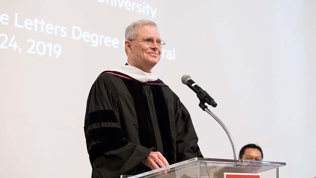 Rev. Robert B. Lawton, S.J., Receives Honorary LMU Degree