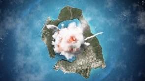 Δείτε τη δημιουργία του νησιού της Σαντορίνης