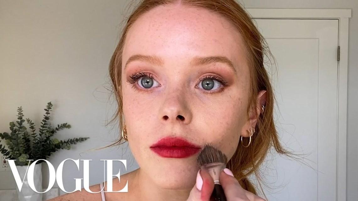 Abigail Cowen's Effortless Red Lip & Guide to Red Haired Beauty | Beauty Secrets | Vogue