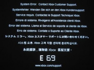 Fixing Xbox 360 Error Code E69