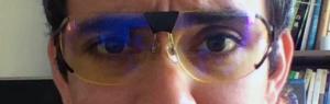 Lunettes anti-lumière bleue sur mes yeux