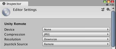 Configuration d'Unity Remote