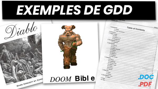 Exemples de GDD (Game Design Document)