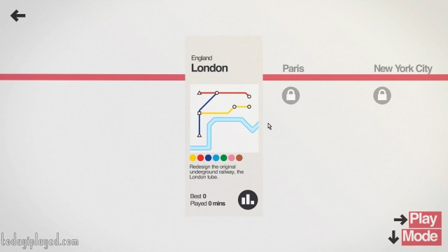 Mini Metro Level Select