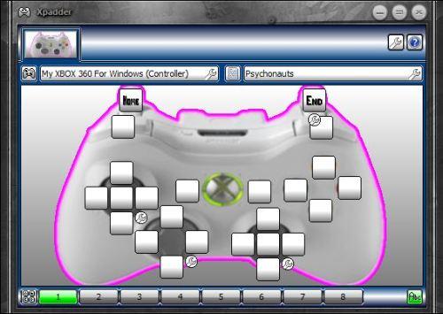 Xpadder configuration for Psychonauts