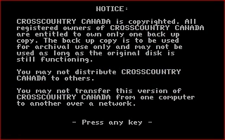 a screencap of Crosscountry Canada's copyright notice