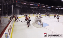 Hockey Ref Wears Go-Pro Camera During the Game
