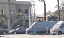 Cop In Egypt Gets Hit With Molotov In The Face!