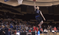 White Kid Throws Down Amazing Dunks