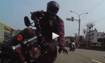 Amazing Slo-Mo of Motorcycle Crash