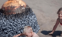 Kids Play With Live Bomb Found On Beach From World War Two
