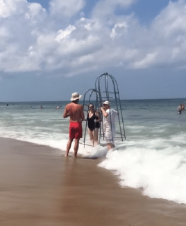Swimming In Homemade Shark Proof Cages In The Outer Banks