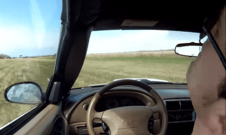 Dashcam Footage of Man Passed Out at the Wheel