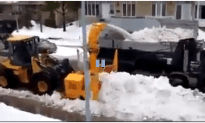 Snow Plower And Dump Truck Duo
