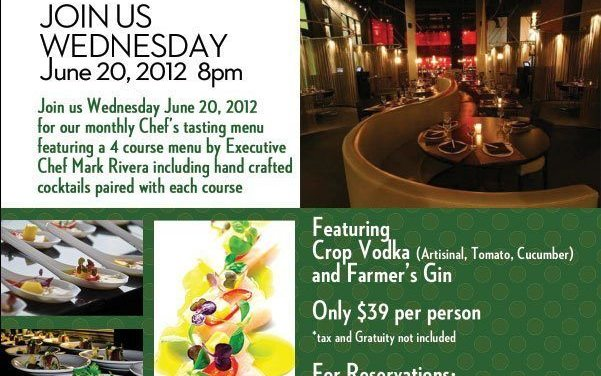 TATU Announces Chef Tasting Wednesday June 20th!
