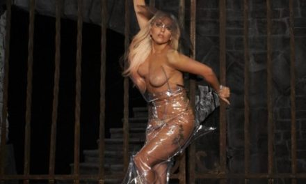 Lady Gaga's Weird Naked Body In Plastic Wrap