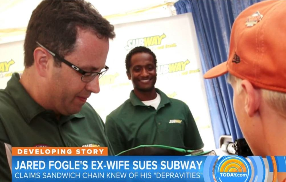 Jared Fogle's Ex-Wife Sues Subway