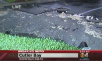 Water Main Breaks In Cutler Bay Causing A Mess