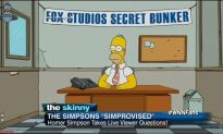 "Homer Simpson Appears Live on ""The Simpsons"""