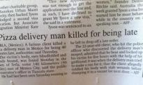 Pizza Delivery Man Murdered For Being Late