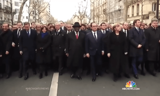 Millions March For Charlie Hebdo In Paris