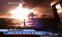 Oil Platform Explodes in the Gulf of Mexico
