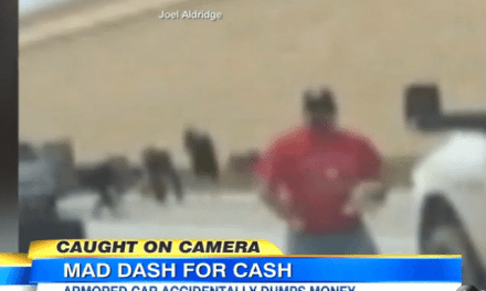 Armored Truck Dumps Cash All Over The Interstate, Other Drivers Make a Fortune