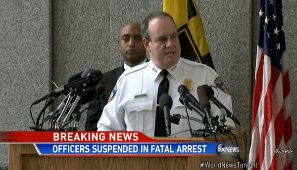 Baltimore Man Suffers a Broken Neck While in Police Custody, Dies a Short Time Later