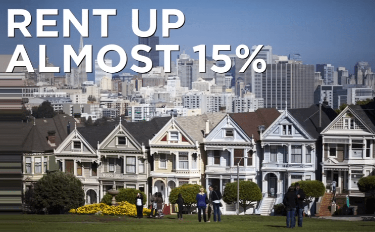 Rent is Up 15% in Some Areas