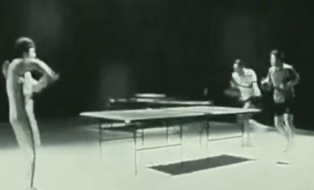 Bruce Lee Plays Ping Pong With Nun-chucks!
