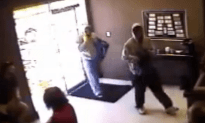 Store Owner Knocks Out Robber With a Baseball Bat