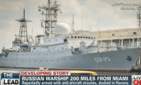 There is a Russian Warship 200 Miles Off the Coast of Florida
