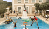 The Most Epic Pool Dunk Ever
