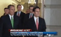 GET THE FUCK OUT! Douchebag Eric Cantor Loses Primary