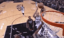Watch Manu Ginobili Dunk on Bosh's Head