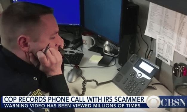 Cop Records Phone Call With IRS Scammer