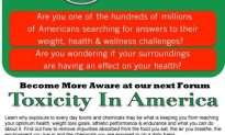 Become More Aware At Our Next Forum: Toxicity In America