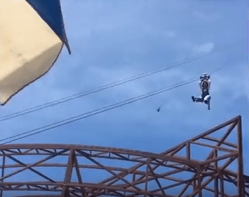 The Vertical Zip Line Looks Like a Blast!
