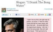 George Clooney Drank The Bong Water!