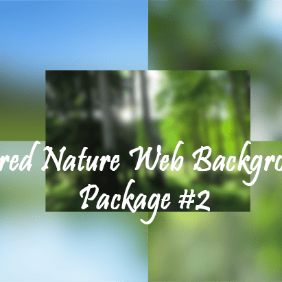 Blurred Nature Web Backgrounds Package