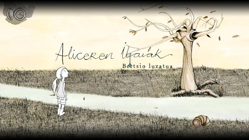 Portada del videojuego Los Ríos de Alice en euskera