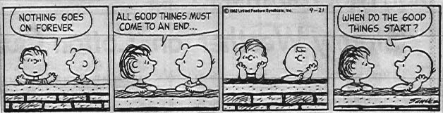 Peanuts Nothing Last Forever Strip