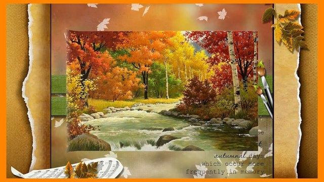 ФУТАЖ Осенний утренник 2 HD