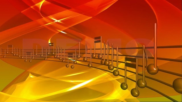 FOOTAGE MUSICAL NOTES Full HD