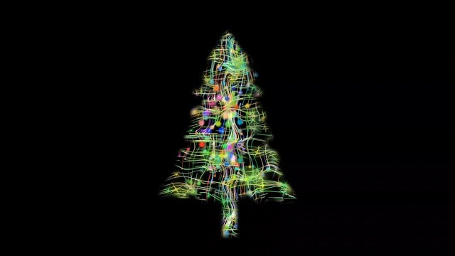 CHRISTMAS TREE FROM COLORED STARS