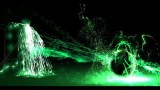 FOOTAGE GREEN NEON LIGHT EFFECT